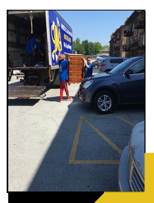 Unloading A Dresser